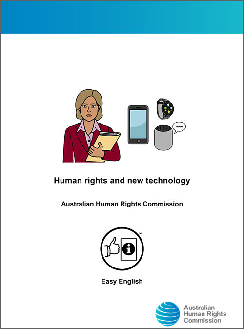 Easy English version of human rights and new technology